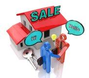 Reunión del comprador y del vendedor Imágenes de archivo libres de regalías