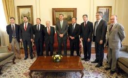 Reunión del Consejo del Banco Central con la Comisión de Hacienda del Senado Stock Image