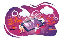 Reuni?n del Consejo del negocio en la oficina, Teamworking libre illustration