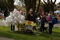 Reunión del día de tierra de Vancouver,   Foto de archivo