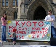Reunión del día de tierra en Ottawa Foto de archivo libre de regalías