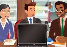 Reunión del escritorio Ilustración del Vector