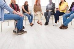 Reunión del grupo de ayuda, espacio de la copia imagen de archivo