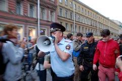 Reunión en apoyo de Alexei Navalny Imagenes de archivo