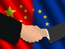 Reunión europea china Fotografía de archivo