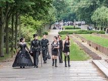 Reunión gótica de la onda de Leipzig Fotos de archivo libres de regalías