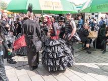 Reunión gótica de la onda de Leipzig Imágenes de archivo libres de regalías