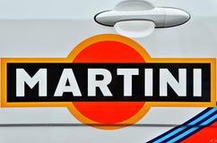 Reunión hecha campaña que compite con de Martini y coches de Le Mans Imagen de archivo