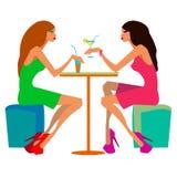 Reunión hermosa de la amistad del alcohol de la belleza Foto de archivo libre de regalías