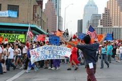 Reunión ideal de la inmigración del acto en Austin Texas 2009 Imagen de archivo libre de regalías