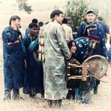Reunión internacional anual de chamanes en el lago Baikal, isla de Olkhon Foto de archivo libre de regalías