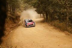Reunión México de la corona de WRC Loeb 2010 imagen de archivo libre de regalías