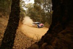 Reunión México de la corona de WRC Loeb 2010 foto de archivo libre de regalías