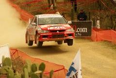 Reunión México de la corona de WRC Miguel 2010 JOURDAIN fotografía de archivo