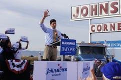 Reunión Mitt Romney de Paul Davis Ryan Foto de archivo