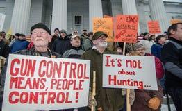 Reunión Montpelier Vermont de las derechas del arma. Imagen de archivo