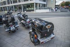 Reunión nacional Halden, Noruega 12 del CERDO 15 de junio de 2014 (bicis) Fotos de archivo libres de regalías