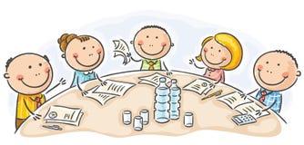 Reunión o conferencia alrededor de la tabla Imagen de archivo libre de regalías