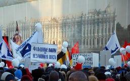Reunión para las elecciones justas en Rusia Fotografía de archivo libre de regalías