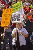 Reunión para salvar el sueño americano Foto de archivo libre de regalías