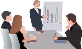 Reunión, planeamiento, planeamiento junto, planeamiento del trabajo Foto de archivo libre de regalías