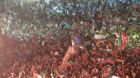 Reunión política de Imran Khan Tehreek-e-Insaf almacen de metraje de vídeo