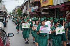 Reunión política de Tailandia Foto de archivo libre de regalías