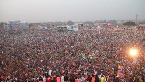 Reunión política masiva de Imran Khan almacen de video