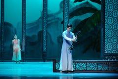 Reunión privada en del jardín- el acto trasero en segundo lugar de los eventos del drama-Shawan de la danza del pasado Imagen de archivo libre de regalías