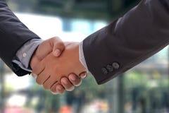 reunión profesional de la sociedad del negocio del apretón de manos del hombre de negocios Imagen de archivo