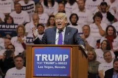 Reunión republicana de la campaña de Donald Trump del candidato presidencial en la arena y el casino del sur del punto en Las Veg Fotografía de archivo
