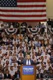 Reunión republicana de la campaña de Donald Trump del candidato presidencial en la arena y el casino del sur del punto en Las Veg Fotos de archivo