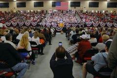 Reunión republicana de la campaña de Donald Trump del candidato presidencial en la arena y el casino del sur del punto en Las Veg Fotografía de archivo libre de regalías