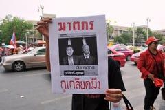 Reunión roja de la camisa en Bangkok Fotos de archivo libres de regalías