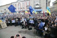 Reunión total contra el gobierno ucraniano Fotografía de archivo