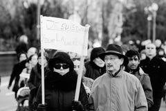 Reunión total de la unidad celebrada en Estrasburgo que sigue al terrorista reciente a Foto de archivo