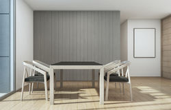 Reunión y comedor, hogar con diseño interior moderno Imagen de archivo