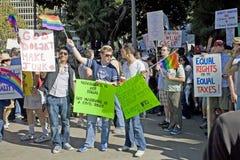 Reunión y marzo de la protesta del asunto 8 en Los Ángeles imágenes de archivo libres de regalías