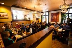 Reuniões de Resturant Imagens de Stock Royalty Free