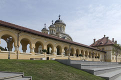 The reunification church in Alba Iulia, Romania Royalty Free Stock Photo