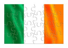 Reunification of Ireland - concept image in jigsaw puzzle shape.  Stock Photo