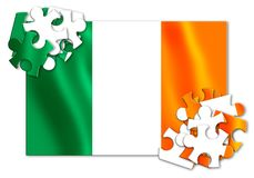 Reunification of Ireland - concept image in jigsaw puzzle shape.  Royalty Free Stock Image