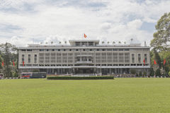 Reunification palace in Ho Chi Minh Royalty Free Stock Images