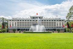 The Reunification Palace in Ho Chi Minh City Royalty Free Stock Photo