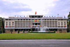 Reunification Palace in Ho Chi Minh, VietNam. Reunification Place in Ho Chi Minh City, VietNam, as landmark and famous view spot of trourism in VietNam Royalty Free Stock Photo