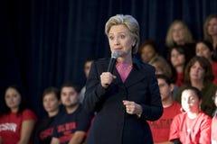 Reunión de Hillary Clinton Imágenes de archivo libres de regalías