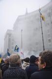 Reunión en apoyo de la integración europea. Ucrania Foto de archivo libre de regalías