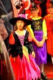 Reunião de bruxas pitoresca do carnaval de Dia das Bruxas Foto de Stock