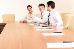 Reunião de funcionamento Foto de Stock