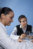 Reunião de negócio com jovens Imagens de Stock Royalty Free